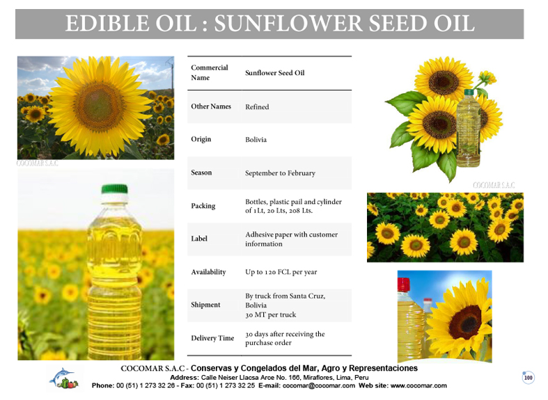 5.- SUNFLOWER SEED OIL
