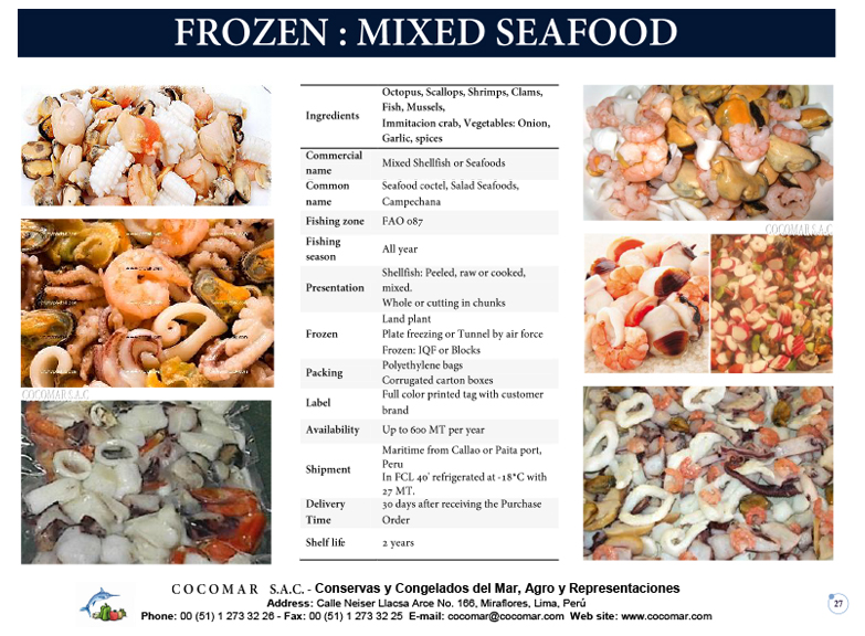 17.- Cocomar (Peru) – Frozen – Mixed Seafood