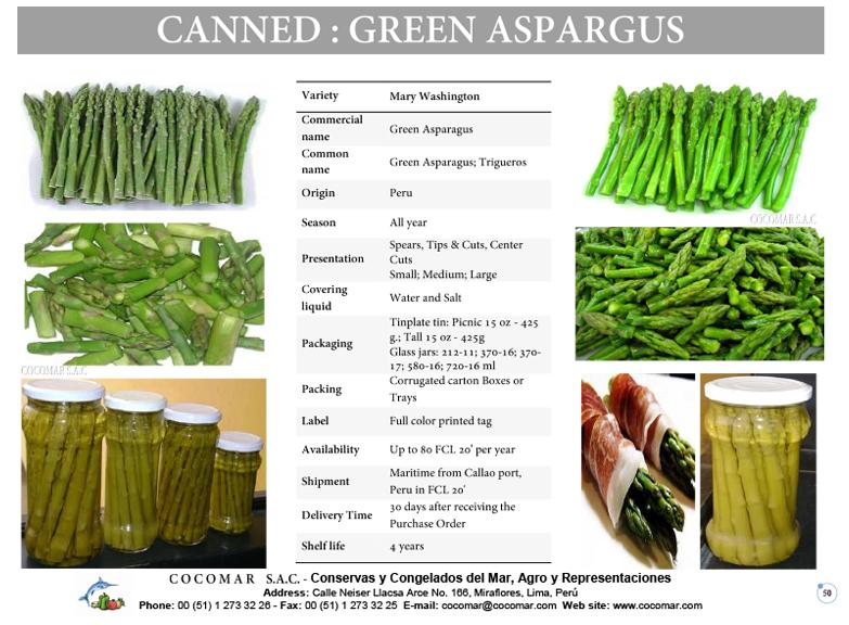 4.- Green Asparagus