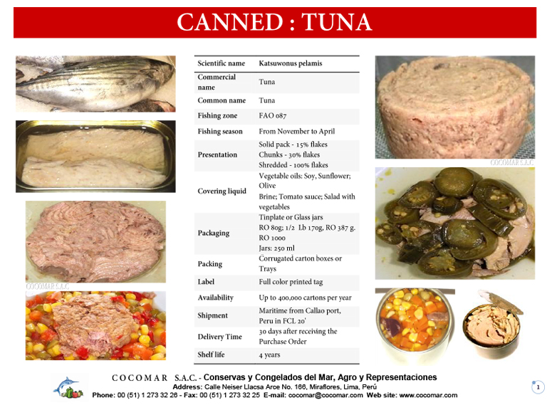 3.- Cocomar (Peru) – Canned – Tuna
