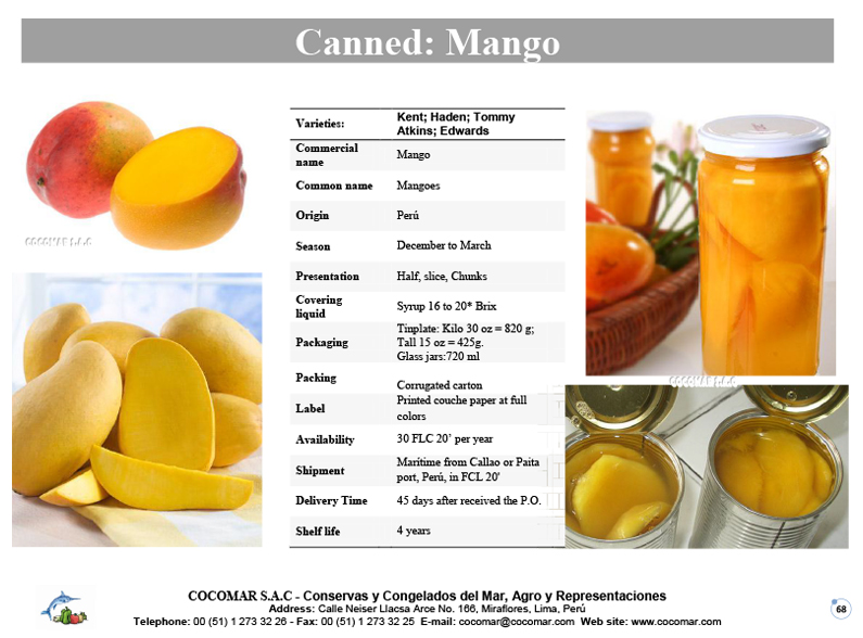 Canned – Mangoes