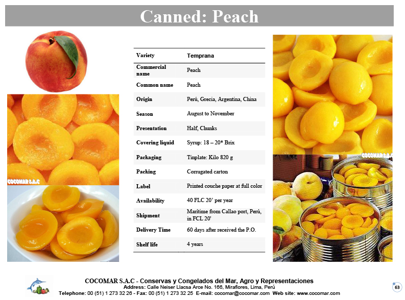Canned – Peachs