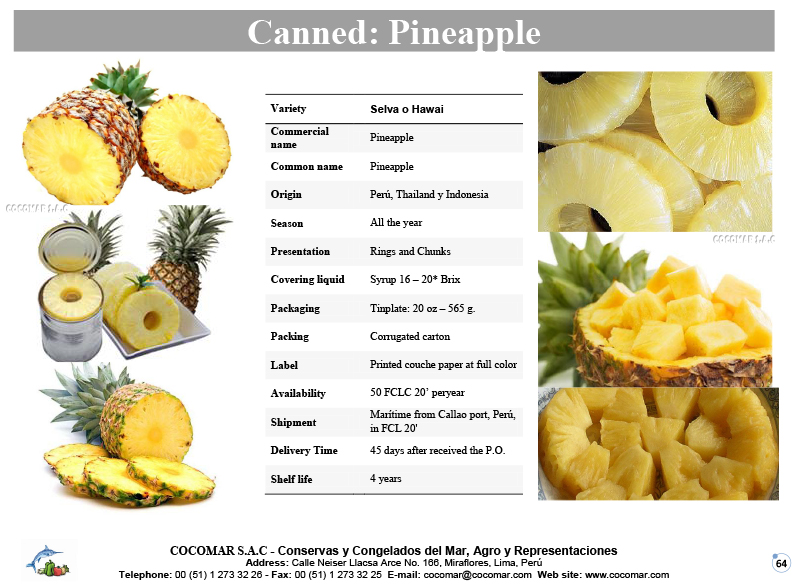Canned – Pineapple